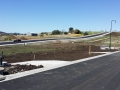 Pass Rd flattens out ready for second Glebe Hill roundabout entrance